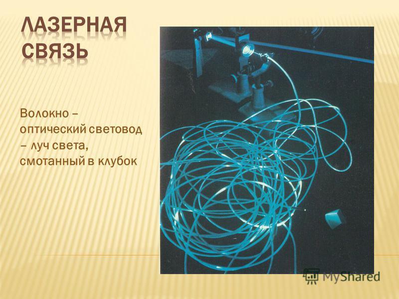 Волокно – оптический световод – луч света, смотанный в клубок