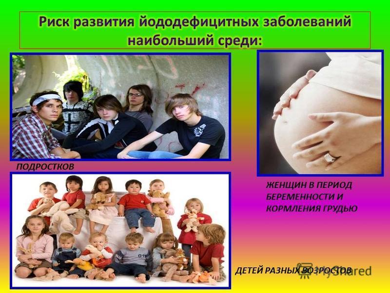 ПОДРОСТКОВ ДЕТЕЙ РАЗНЫХ ВОЗРОСТОВ ЖЕНЩИН В ПЕРИОД БЕРЕМЕННОСТИ И КОРМЛЕНИЯ ГРУДЬЮ