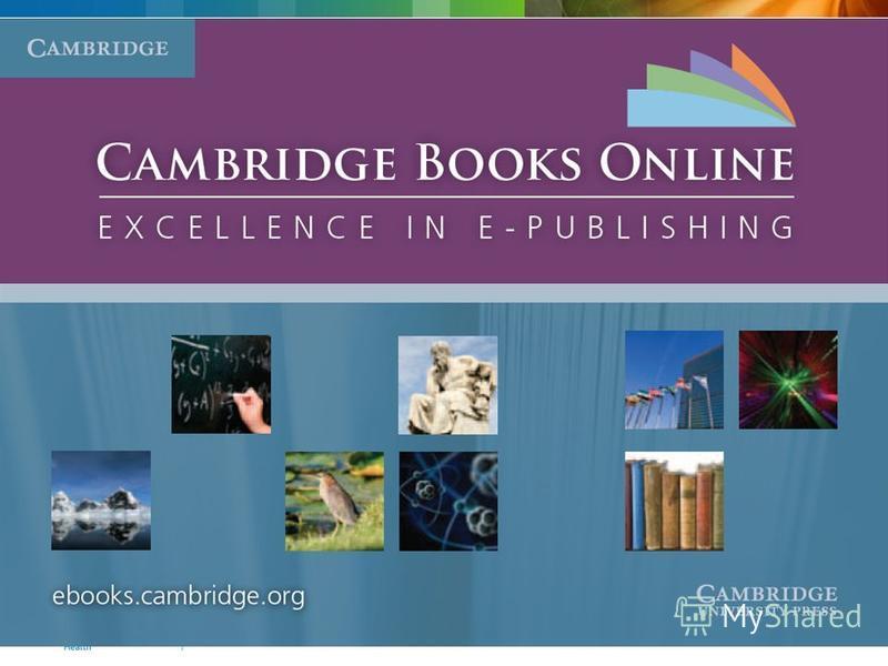Cambridge Books Online