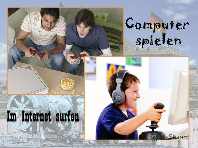 Im Internet surfen Computer spielen