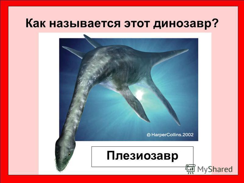 Как называется этот динозавр? Плезиозавр