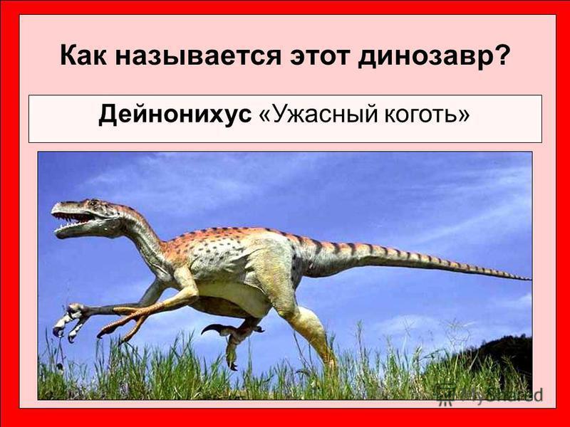 Как называется этот динозавр? Дейнонихус «Ужасный коготь»