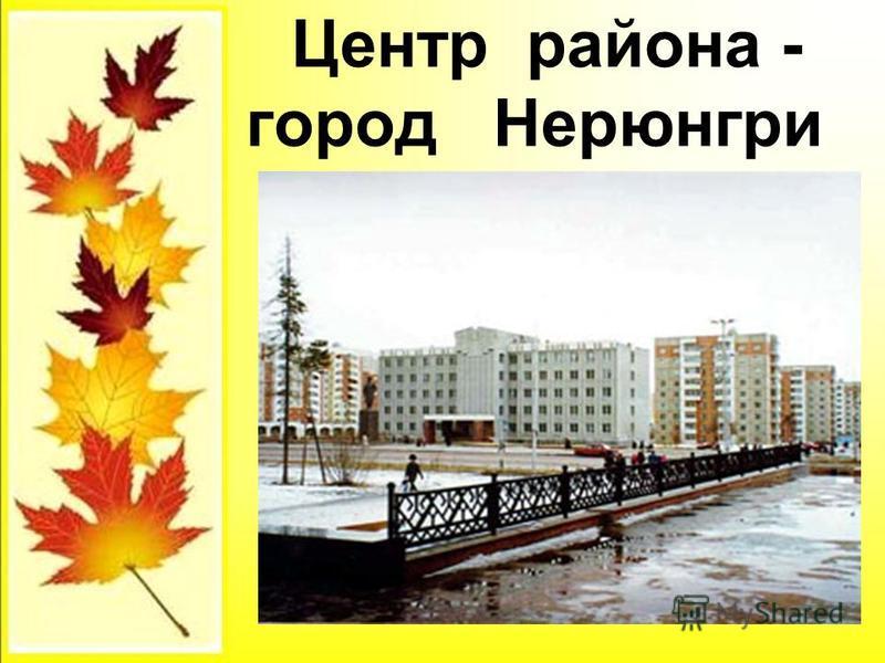 Центр района - город Нерюнгри