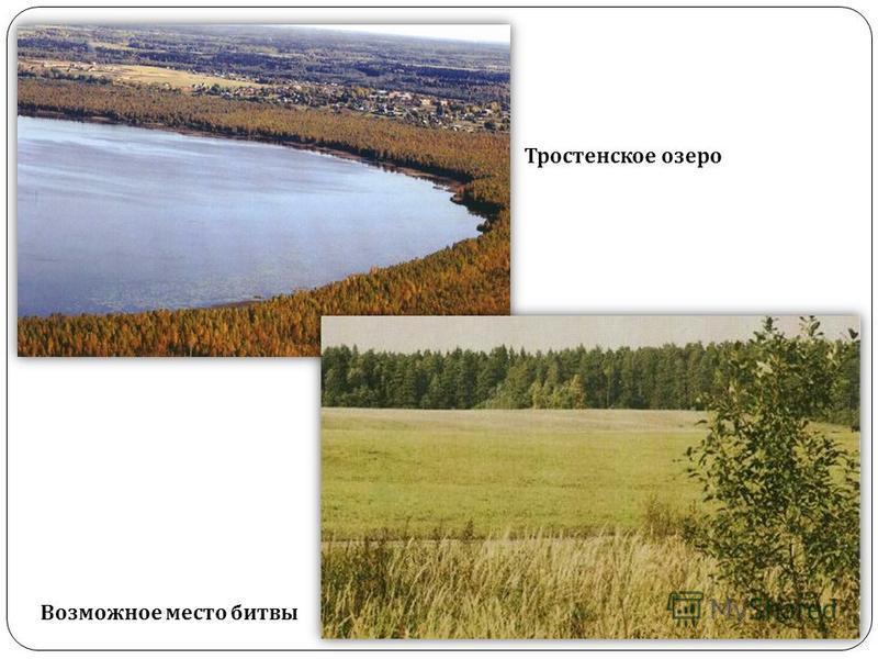 Тростенское озеро Возможное место битвы
