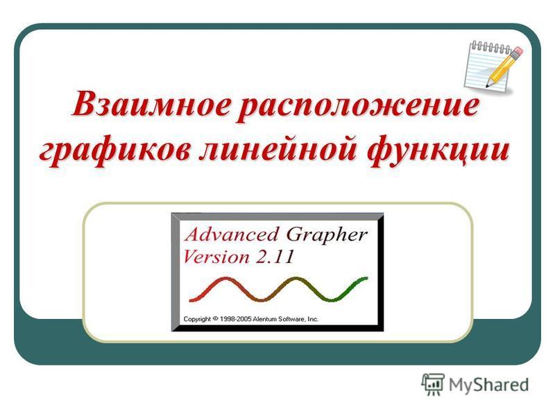 Взаимное расположение графиков линейной функции 7 класс