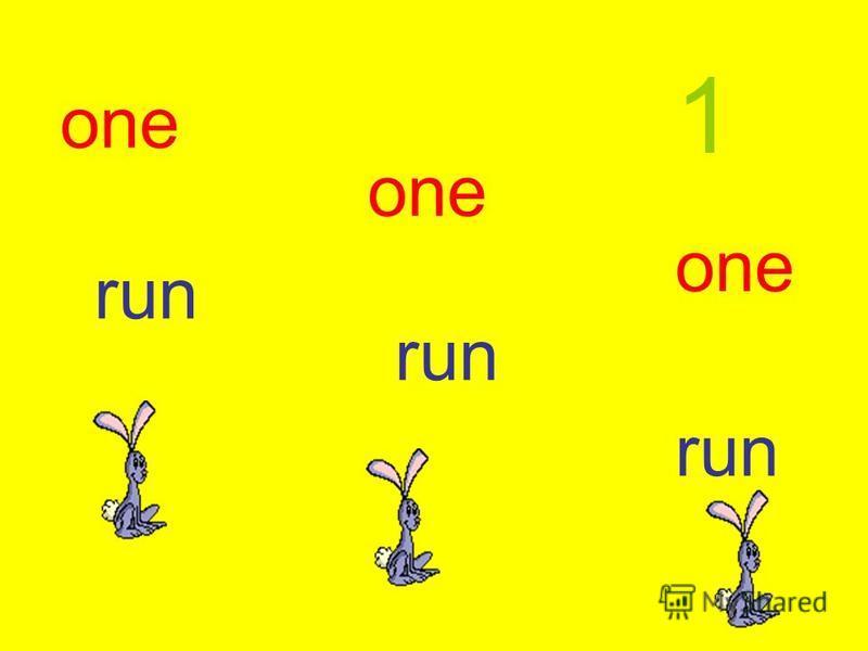 one run 1