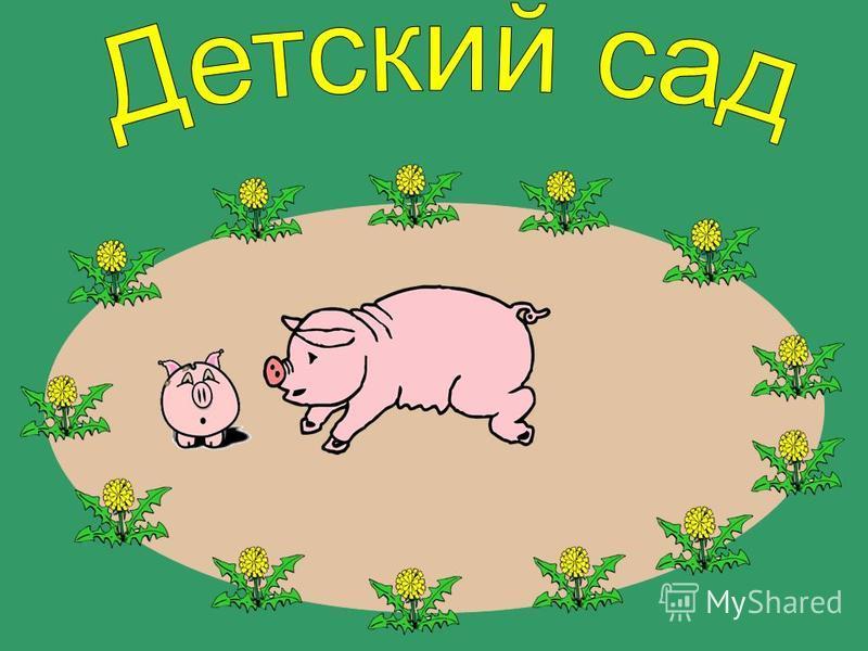 Свинья за поросёнком.