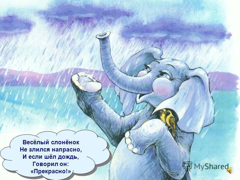 Сиял чистотой он, И между слонами Слонёнка не зря Называть стали: «Санни!» Сиял чистотой он, И между слонами Слонёнка не зря Называть стали: «Санни!»