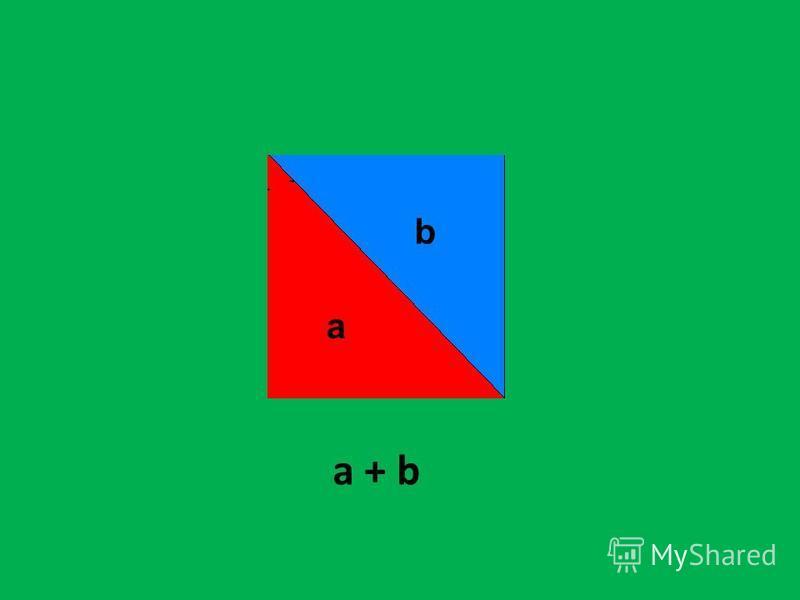a + b b а