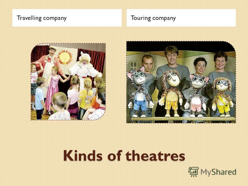 Kinds of theatres Travelling companyTouring company
