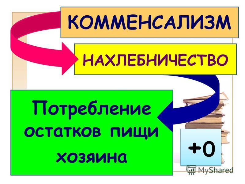 +0+0 +0+0 Потребление остатков пищи хозяина НАХЛЕБНИЧЕСТВО КОММЕНСАЛИЗМ