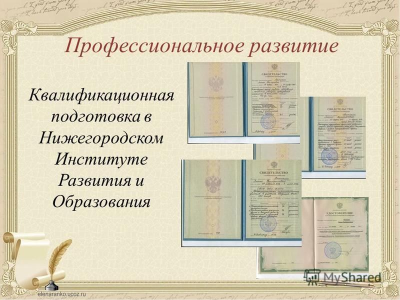Профессиональное развитие Квалификационная подготовка в Нижегородском Институте Развития и Образования