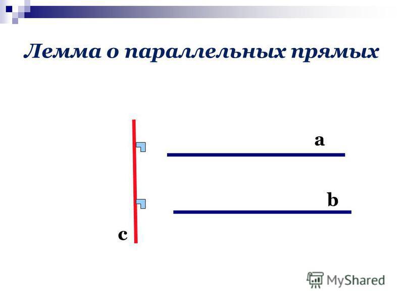 Лемма о параллельных прямых с а b