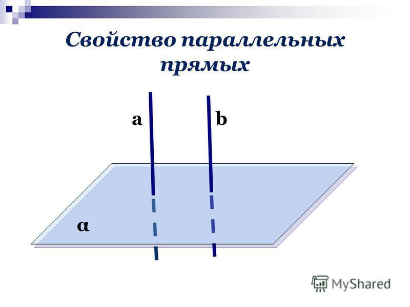 Свойство параллельных прямых α be