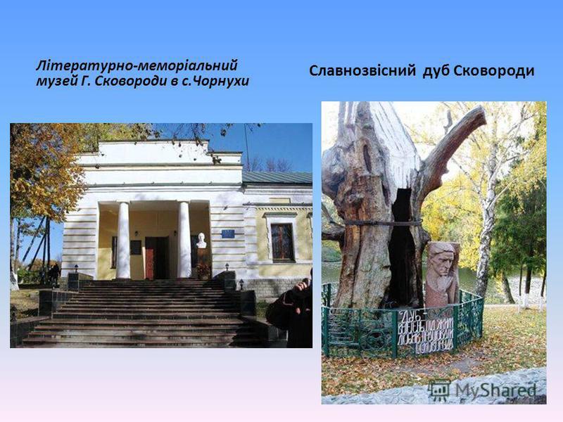 Літературно-меморіальний музей Г. Сковороди в с.Чорнухи Славнозвісний дуб Сковороди