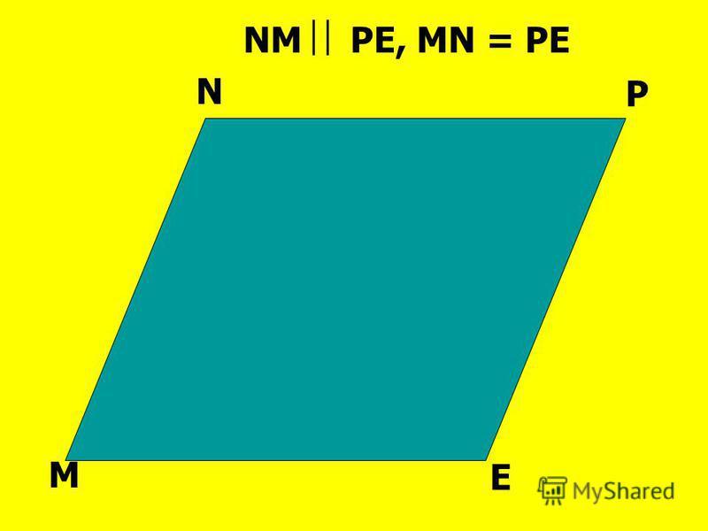 M E N P NM PE, MN = PE