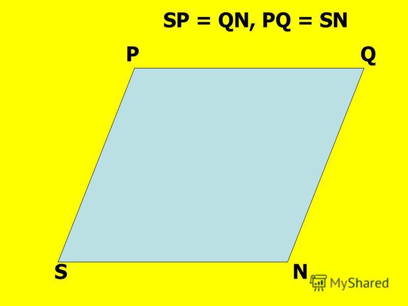 PQ SN SP = QN, PQ = SN