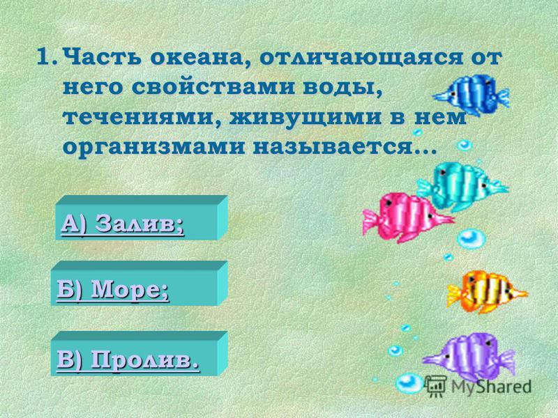 Тестовое задание по теме «Части Мирового океаны. Участки суши в океане». Конкурс презентаций
