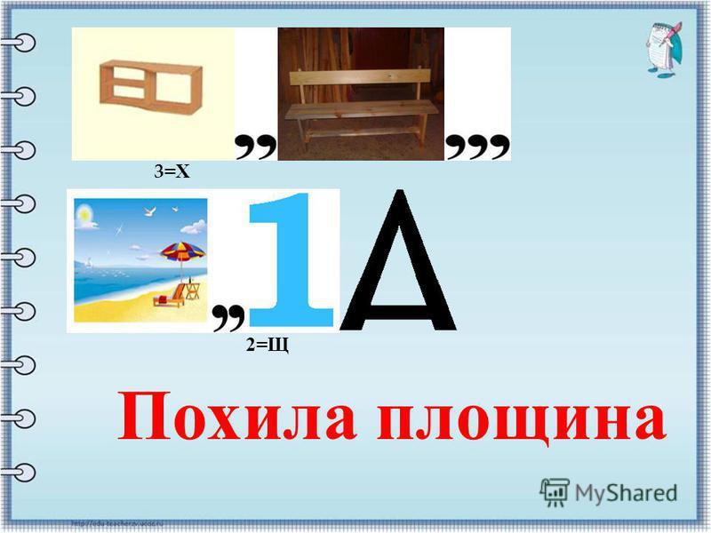 Похила площина 3=Х3=Х 2= Щ