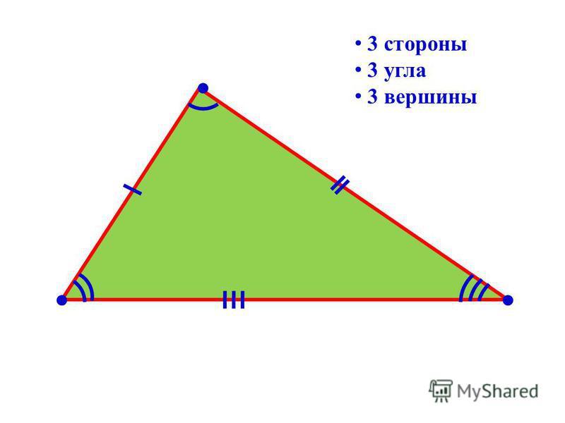 3 стороны 3 угла 3 вершины