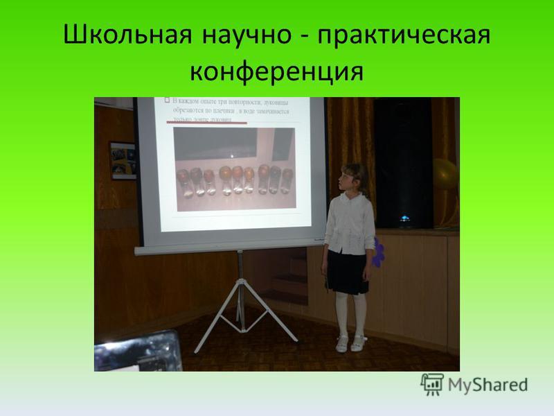 Школьная научно - практическая конференция