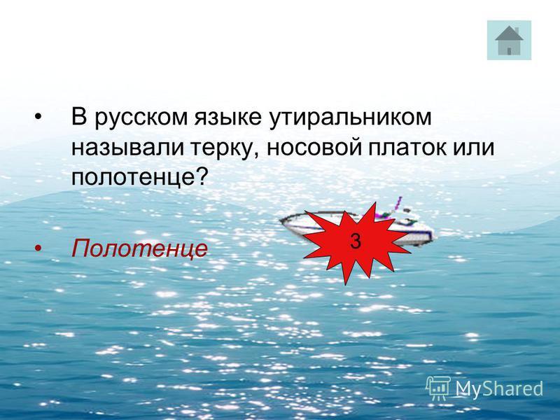 В русском языке утиральником называли терку, носовой платок или полотенце? Полотенце 3
