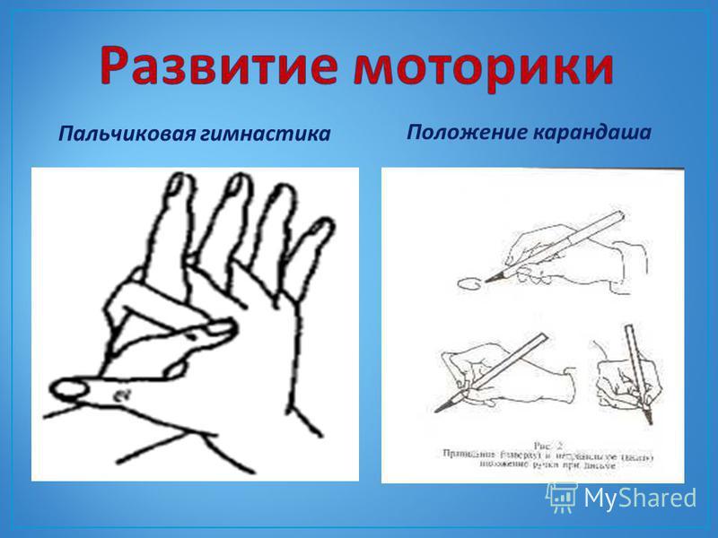 Пальчиковая гимнастика Положение карандаша