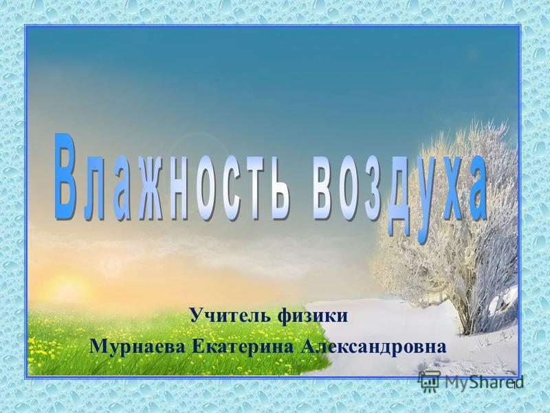 1 Учитель физики Мурнаева Екатерина Александровна
