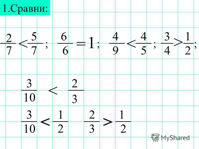 1.Сравни: 2 4 1 56 7 14 76592 3 <=< > ;;; 4 ; 3 10 3 2 < 3 3 2 22 1 <> 1