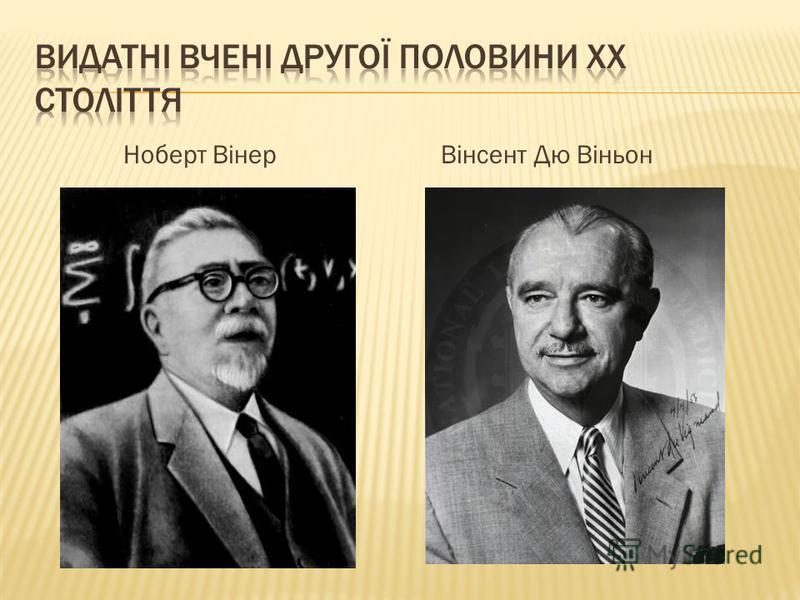 Ноберт ВінерВінсент Дю Віньон
