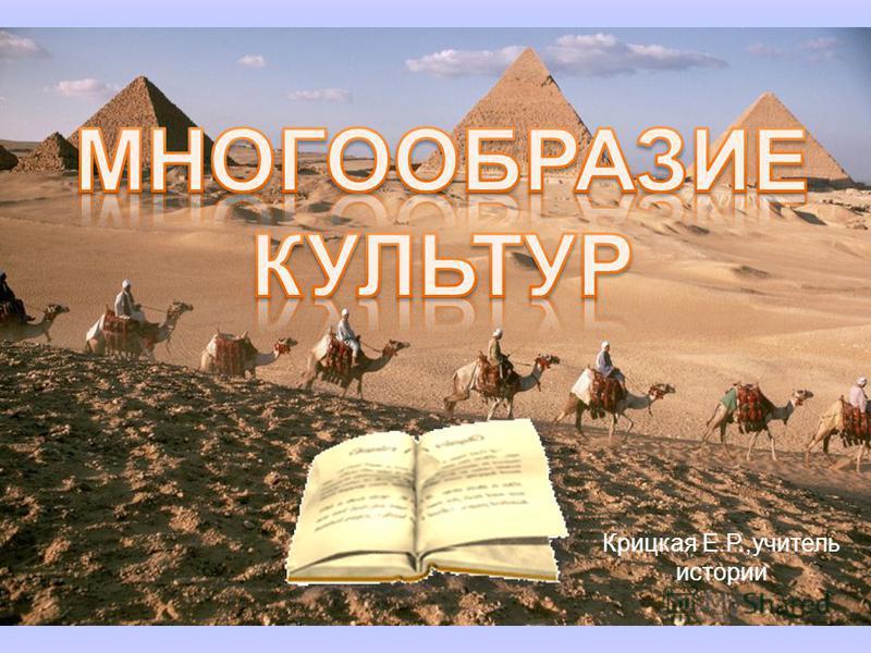Крицкая Е.Р.,учитель истории