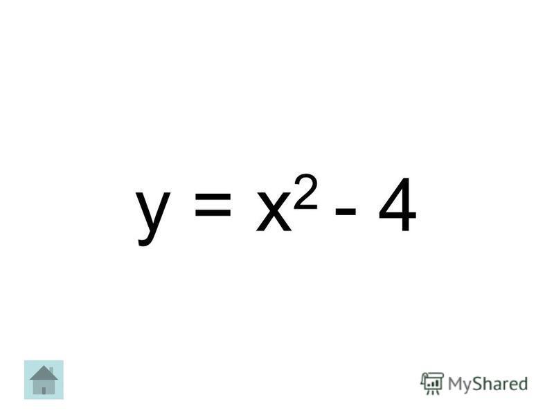 y = х 2 - 4
