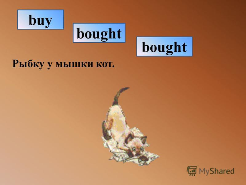 Рыбку у мышки кот. bought buy