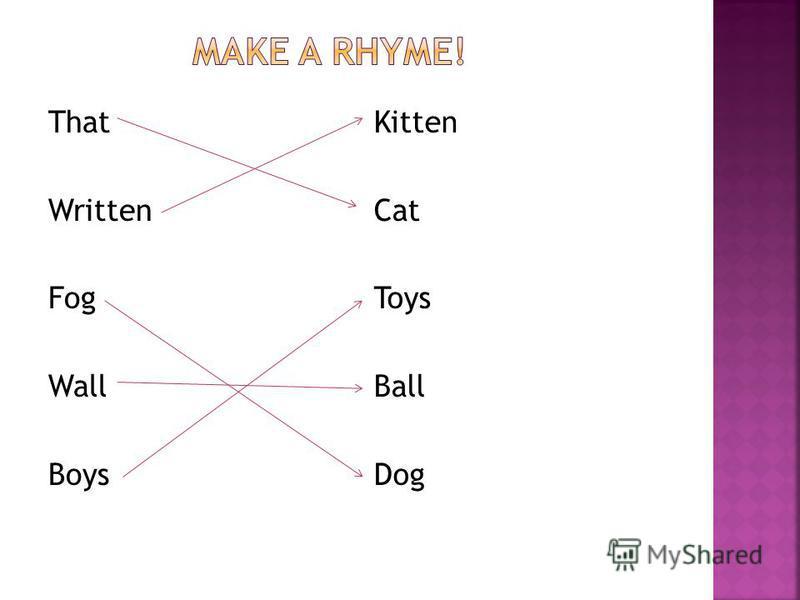 That Written Fog Wall Boys Kitten Cat Toys Ball Dog