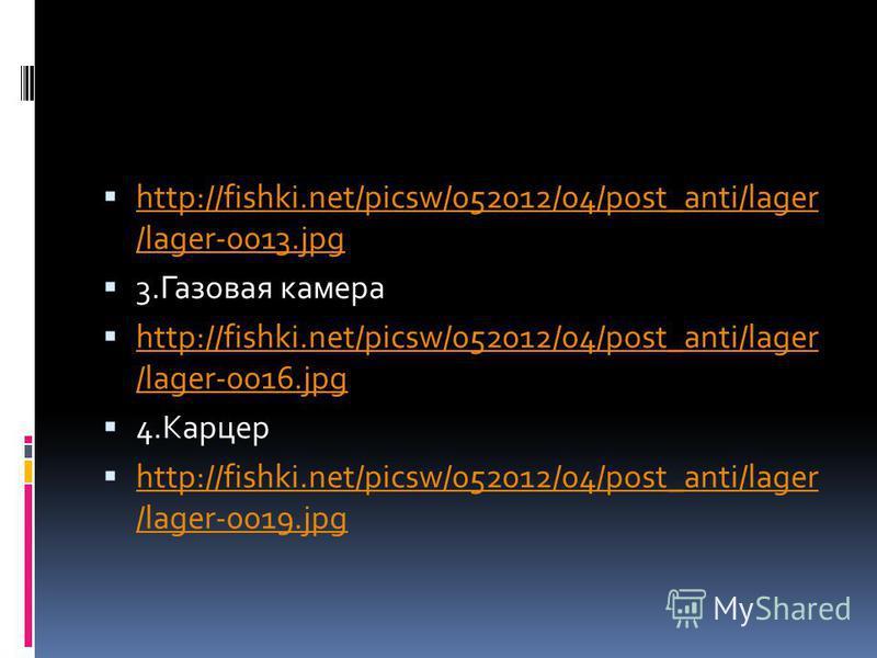 http://fishki.net/picsw/052012/04/post_anti/lager /lager-0013. jpg http://fishki.net/picsw/052012/04/post_anti/lager /lager-0013. jpg 3. Газовая камера http://fishki.net/picsw/052012/04/post_anti/lager /lager-0016. jpg http://fishki.net/picsw/052012/