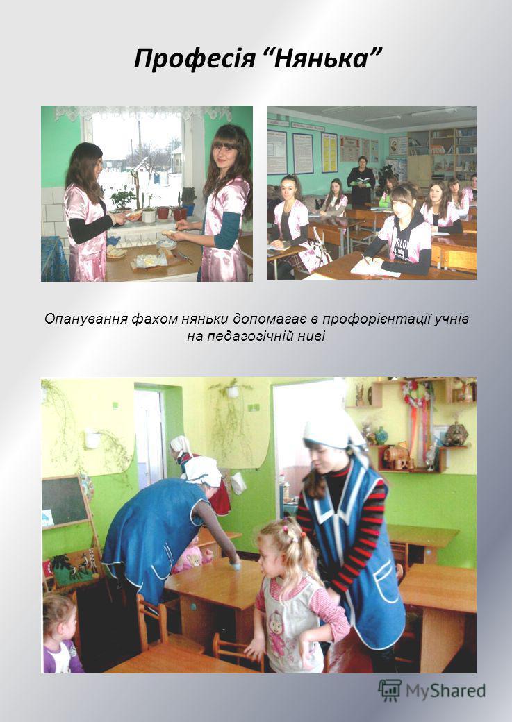 Професія Нянька Опанування фахом няньки допомагає в профорієнтації учнів на педагогічній ниві
