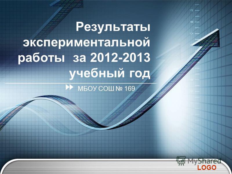 LOGO Результаты экспериментальной работы за 2012-2013 учебный год МБОУ СОШ 169