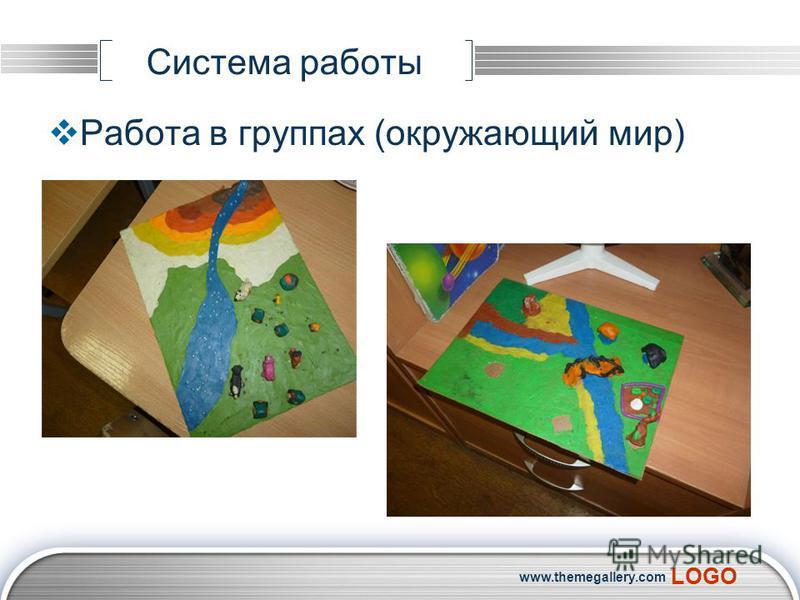 LOGO Система работы Работа в группах (окружающий мир) www.themegallery.com