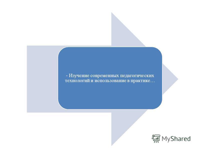 - Изучение современных педагогических технологий и использование в практике…
