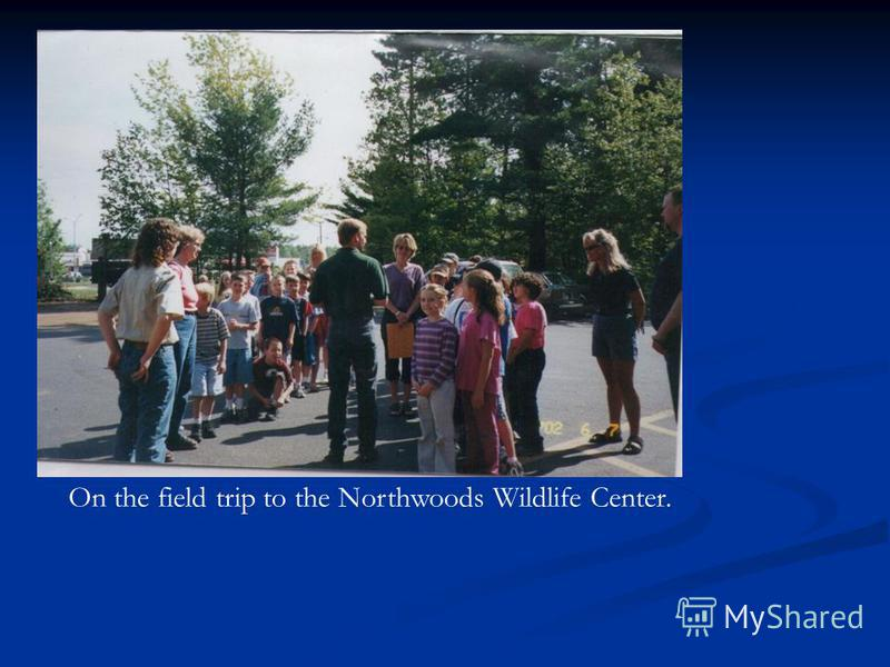 On the field trip to the Northwoods Wildlife Center.