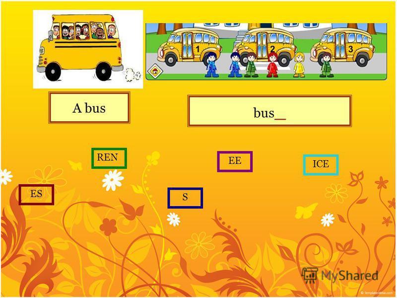 A bus bus _ S ES REN EE ICE