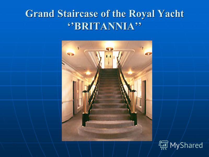 Grand Staircase of the Royal Yacht BRITANNIA
