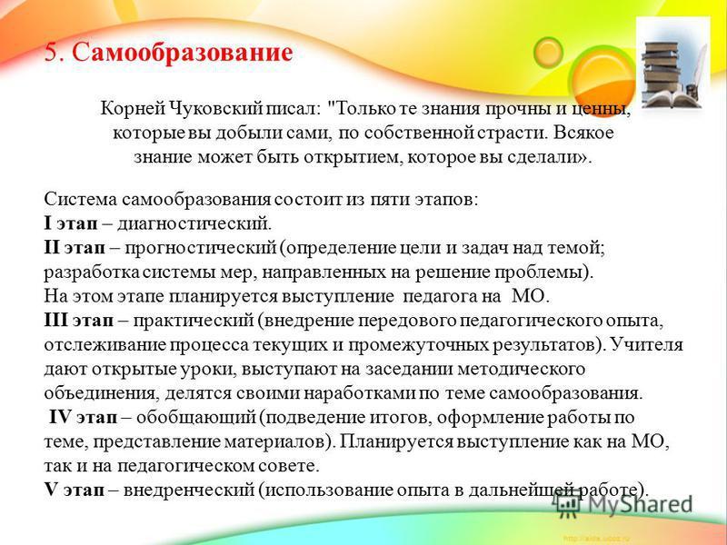 5. Самообразование Корней Чуковский писал:
