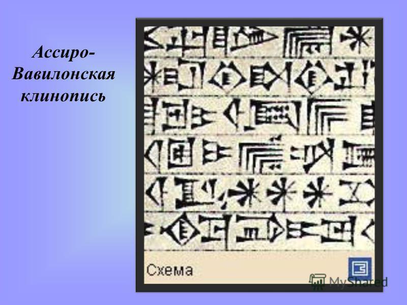 Ассиро- Вавилонская клинопись