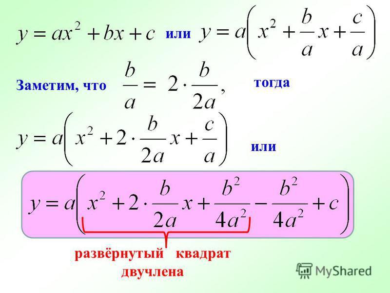 Заметим, что тогда или развёрнутый квадрат двучлена