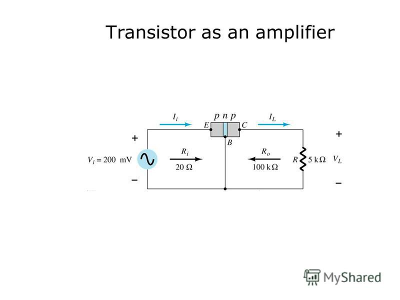 Transistor as an amplifier