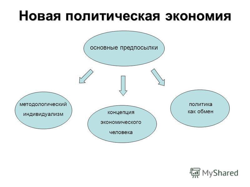 Новая политическая экономия основные предпосылки методологический индивидуализм концепция экономического человека политика как обмен