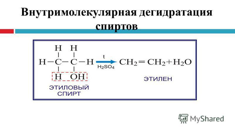 Внутримолекулярная дегидратация спиртов
