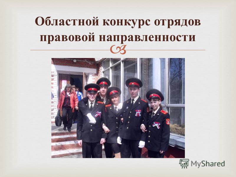 Областной конкурс отрядов правовой направленности