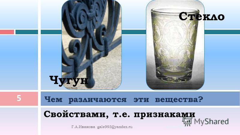 Что такое вещество? 10.08.2015 4 Г. А. Иванова gale993@yandex.ru Вещество – это то, из чего состоят физические тела